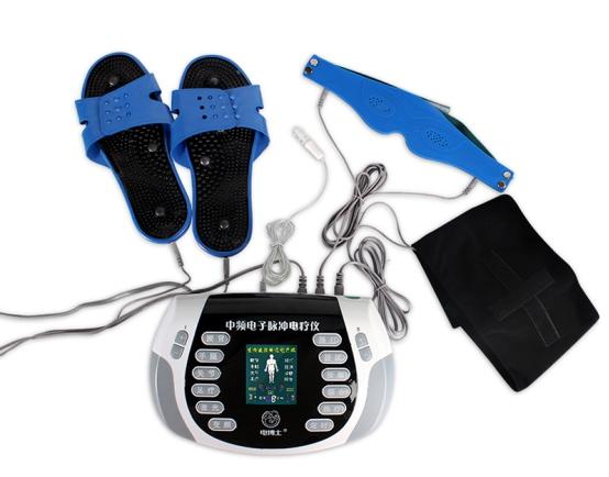 这些设备采用低频调制的中频电流,可帮助用户进行电疗消疲,缓压,促进