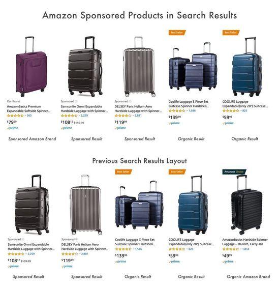 'Sponsored'的广告品牌和'Our Brand'自有品牌区分 | 亚马逊网站截图