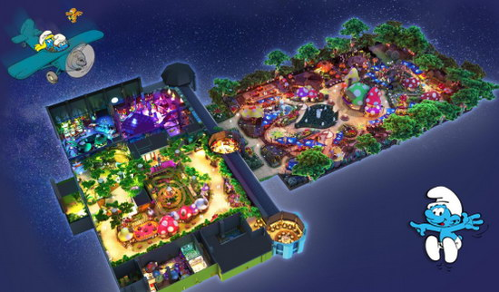 亚太区首座蓝精灵主题乐园启动试运营,冬日邀你奇幻畅游